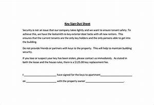 employee key holder agreement template sign out sheet With employee key holder agreement template
