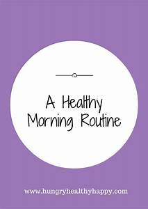 A Healthy Morning Routine