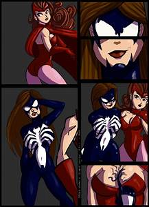 Spider-woman / Scarlet Witch Commisson pt 1 by kaioutei on ...