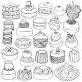 Coloring Dessert Printable Adult sketch template