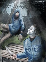 Jason Vs Michael Myers Drawing