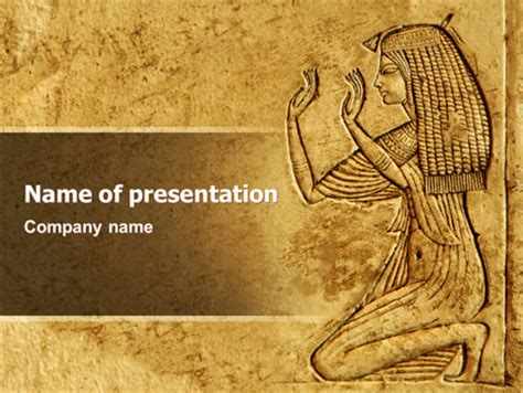 Egypt Templates Powerpoint by Egyptian Engraving Presentation Template For Powerpoint