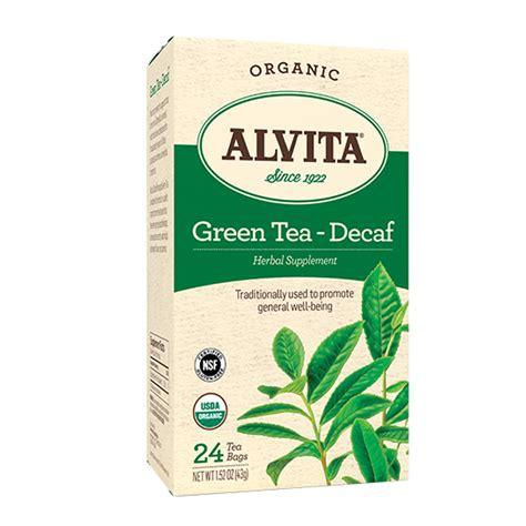 is green tea caffeine free alvita green tea caffeine free 24bags smallflower com