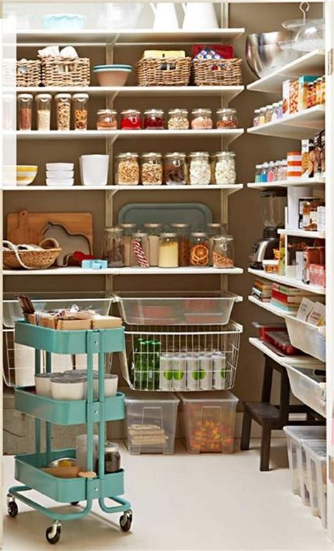 ikea pantry using algot shelving organizing pinterest