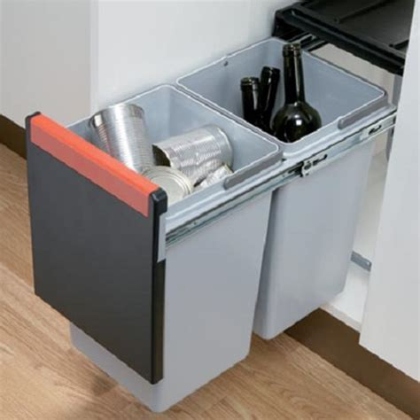 Kitchen Cube 30ltr Double Pull Out Waste Bin 300mm