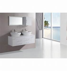 ensemble de salle de bain tauste blanc meuble salle de With porte d entrée pvc avec meuble salle de bain double vasque avec miroir