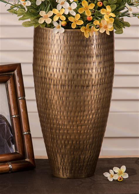 Decorative Home Accents - antiqued hammered brass rice vase home decor 52 46 you