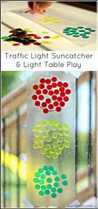 Traffic Light Art For Preschool Traffic Light Suncatcher Light Table Play Light