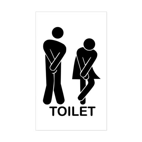 stickers muraux toilettes humour toilet sign sticker rectangle by funnytoiletsign