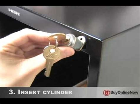 how to replace a file cabinet lock how to install file cabinet lock youtube