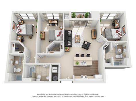 3 Bedroom 3 Bathroom Apartments by 3 Bedroom 3 Bathroom