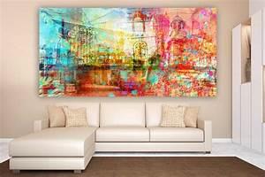 Wandbilder Wall Art : leinwandbilder hamburg collage moderne wandbilder im pop art style ~ Markanthonyermac.com Haus und Dekorationen