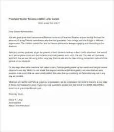 Preschool Teacher Recommendation Letter