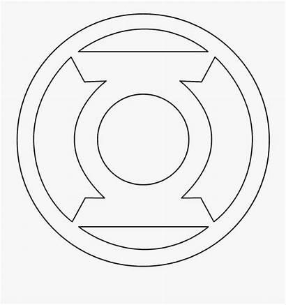 Coloring Superhero Logos Sheets Lantern Symbol Drawing