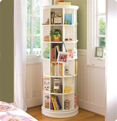 How To Build A Revolving Bookcase by Spinning Storage Shelf