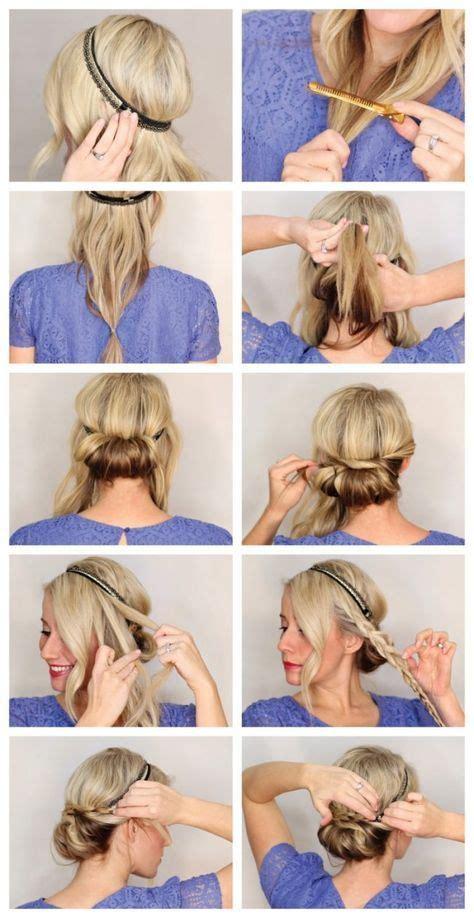 frisuren mit haarband anleitung eindrehfrisur zopf