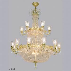 Magnificent large vintage ballroom crystal chandelier ant