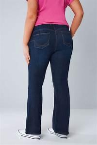 Indigo Blue Bootcut SHAPER Jeans Plus size 14 to 28