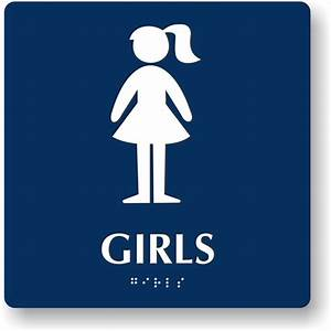 Classy 40 bathroom sign girl inspiration of girls white for Girls bathroom symbol