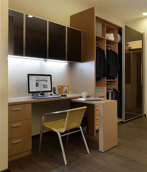 small home computer desk study table with wall cabinet wardrobe our showroom