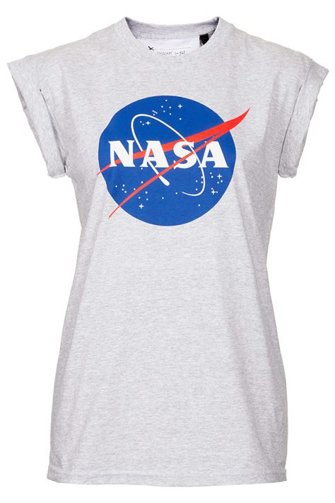 Topshop Nasa Tee By Tee and Cake in Gray   Lyst