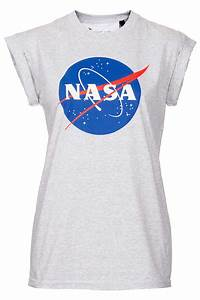 Topshop Nasa Tee By Tee and Cake in Gray | Lyst