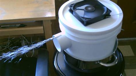 homemade ac   gallon bucket space cooler