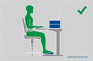 Bildschirmgröße Berechnen : ergonomisch sitzen optimale h he von tisch stuhl berechnen ~ Themetempest.com Abrechnung