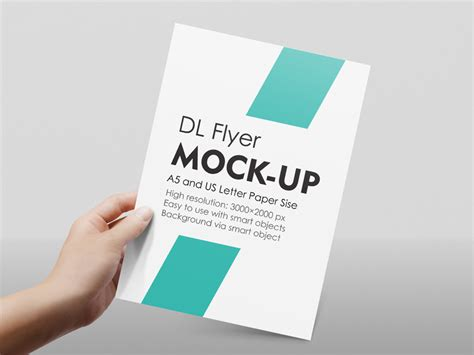 Flyer Mockup A4 A5 Flyer Mockup By Diephay Dribbble