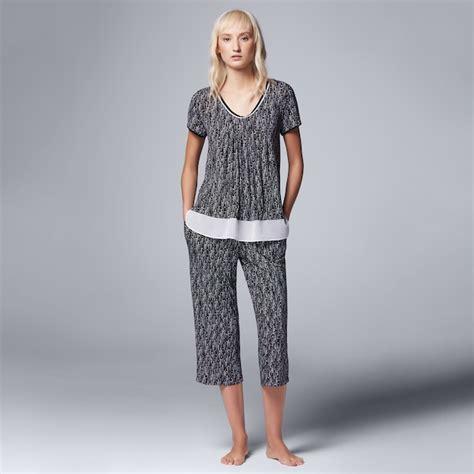 womens simply vera vera wang pajamas morning frost top