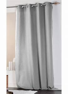 Rideau Noir Et Gris : rideau en coton et lin uni xxl gris lin ecru homemaison vente en ligne tous les rideaux ~ Melissatoandfro.com Idées de Décoration
