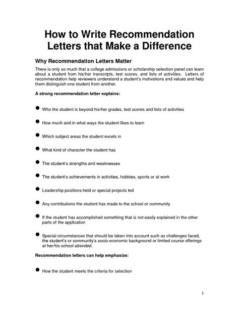 writing a letter of recommendation writing a letter of recommendation template sle
