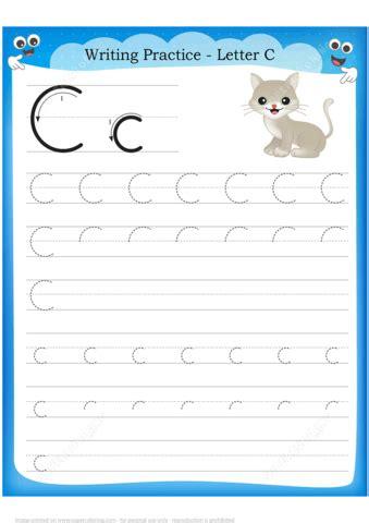letter    cat handwriting practice worksheet
