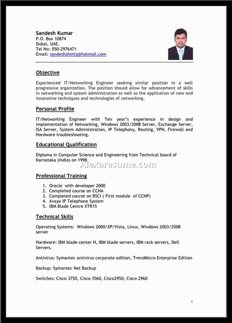 Resume Format For Application by Best 25 Resume Format Ideas Only On