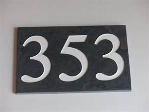 Plaque Numero De Rue : plaque grav e en ardoise sur mesure de 10mm d 39 paisseur ~ Melissatoandfro.com Idées de Décoration