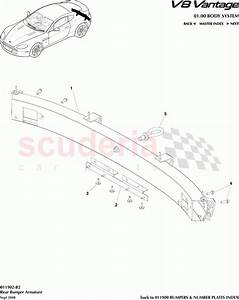Aston Martin V8 Vantage Rear Bumper Armature Parts