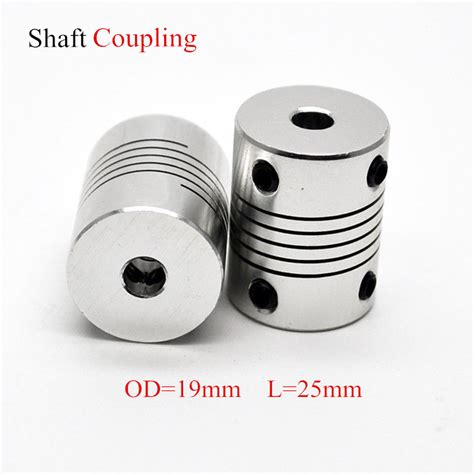 aluminium cnc motor jaw shaft coupler mm  mm flexible coupling od xmm dropshipping