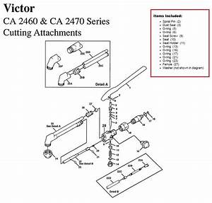 Victor Ca2460  U0026 Ca2470 Cutting Torch Large Rebuild  Repair
