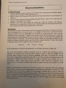 Solved  Chem 1212 Lab Manual 2016 Electrochemis