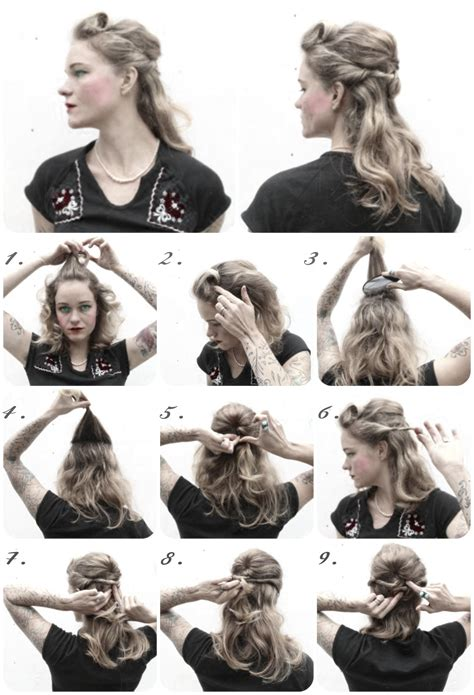 1940s Hairstyle How To by How To Hair Diy Hair Resource From How To Hair