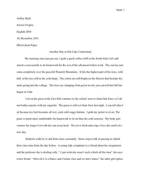 preschool observation essay observation paper 207