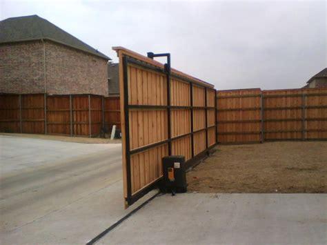 electronic sliding driveway gate fences decks