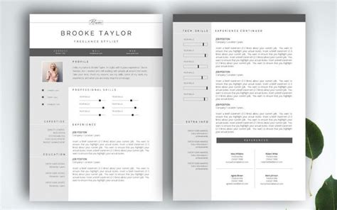2 Page Resume Template by Resume Templates 2 Pages