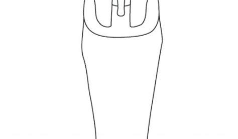 egyptian sarcophagus template design  sarcophagus printable outline sarcophagus  williamson