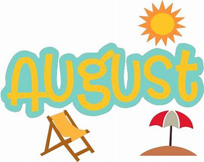 August Background Transparent Clipart Month Word Svg