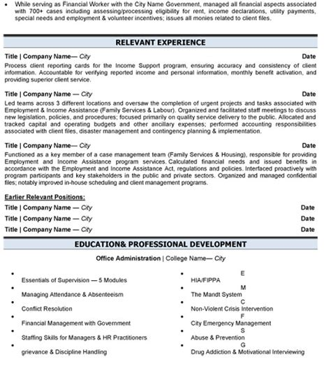 business administration resume sle template