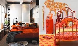 Beautiful Chambre En Orange Et Bleu Turquoise Images
