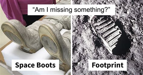 points   neil armstrongs boot doesnt match  print   moon
