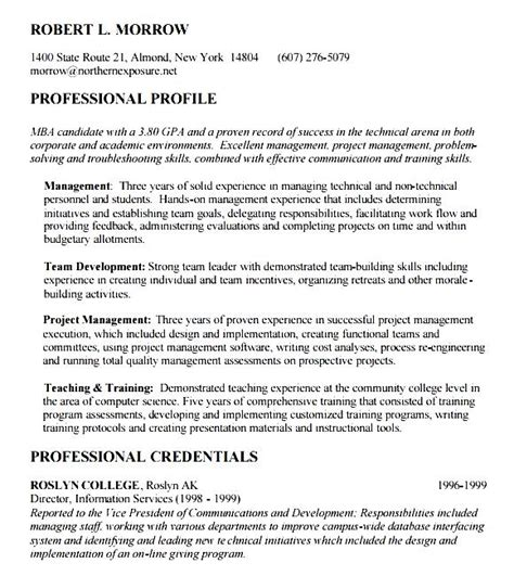 Career Objective For Resume For Mba by Mba Resume Objective Free Sles Exles Format