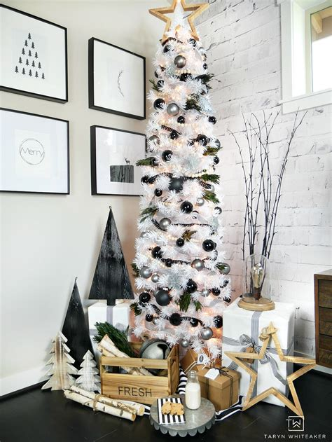 contempory xmas tree toppers to make modern black and white tree whiteaker